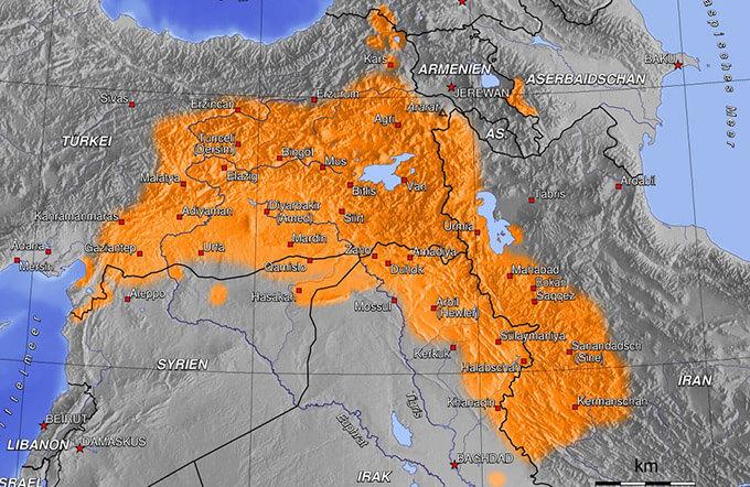 Естествени граници на Кюрдистан